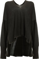 Ilaria Nistri high-low hem knitted top