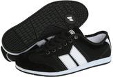 Macbeth Brighton W (Black/White Suede/Canvas) - Footwear