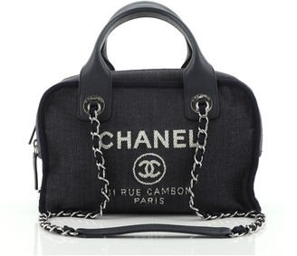 Chanel Deauville Bowling Bag Denim Small