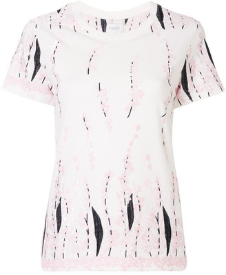 Giambattista Valli floral-embroidered cotton T-shirt