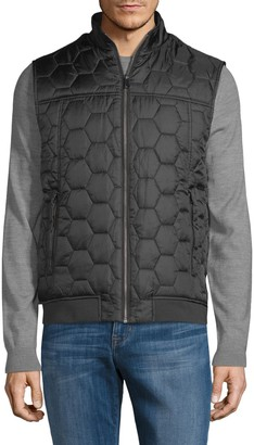 Pure Navy Honeycomb Quilted Puffer Vest