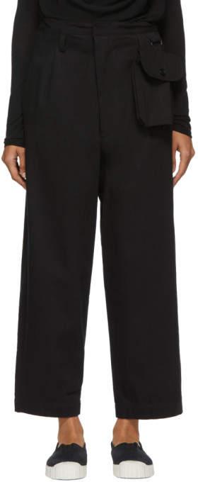 Y's Ys Black Detachable Pouch Trousers