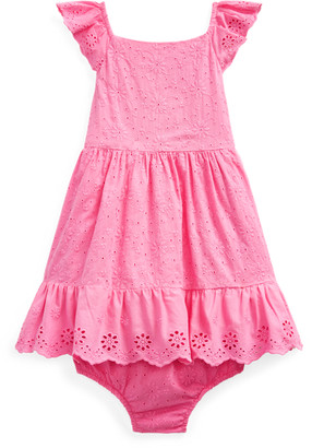 Ralph Lauren Eyelet-Trim Dress & Bloomer