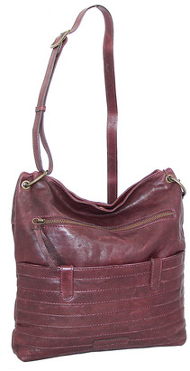 Nino Bossi Handbags Women's Handbags Burgundy - Burgundy Nieve Leather Crossbody Bag