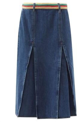 Wales Bonner Saint Catherine Denim Midi Skirt - Denim
