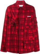 Off-White Off White Voyager checked long-sleeved shirt