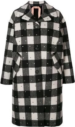 No.21 Embellished Single-Breasted Coat