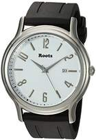 Roots 'Core' Quartz Stainless Steel and Rubber Casual Watch, Color:Black (Model: 1R-PR201WH1B)