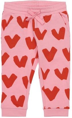 Stella McCartney Kids Heart Print Organic Cotton Sweatpants