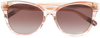 Missoni Eyewear Abstract Print Round-Frame Sunglasses