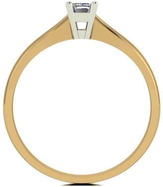 Love Diamond 9ct Gold 30 Point Diamond Emerald Cut Solitaire Ring
