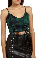 Missguided Women's Plaid Bustier Top