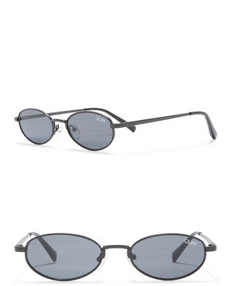 Quay 30mm Showdown Oval Sunglasses