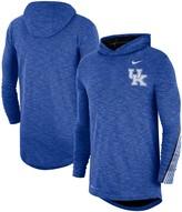 Nike Men's Royal Kentucky Wildcats 2019 Sideline Long Sleeve Hooded Performance Top