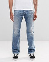 Diesel Safado Straight Jeans 853I Bleach Wash