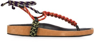 Isabel Marant Loreco ankle-tie sandals