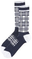 White Mountaineering Check Pattern Socks