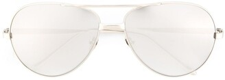 Linda Farrow '128' Aviator Sunglasses