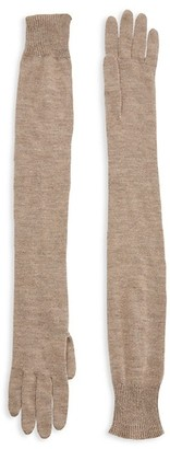 The Row Besede Cashmere & Silk Long Gloves