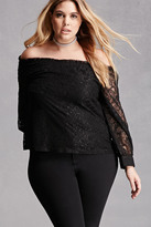 Forever 21 FOREVER 21+ Plus Size COC Lace Top