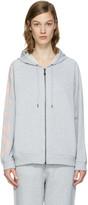 Kenzo Grey Logo Sleeve Zip Hoodie