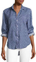 Frank And Eileen Eileen Long-Sleeve Button-Front Shirt, Blue Pattern