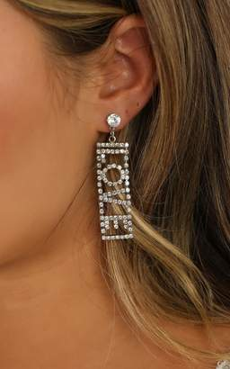 Showpo The Good Days Earrings In Silver Diamante Earrings