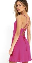 Lush Party Playlist Black Lace-Up Dress