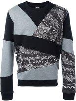 Just Cavalli patchwork sweatshirt