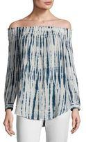 Polo Ralph Lauren Shibori Off-The-Shoulder Linen Top