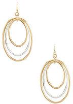 Southern Living Sheryl Two-Tone Triple Hoop Drop Earrings
