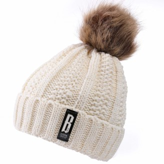 VALPEAKER Winter Pom Beanie for Women