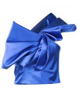 Saint Laurent pleated knot bustier