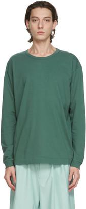 Issey Miyake Green Cotton Long Sleeve T-Shirt