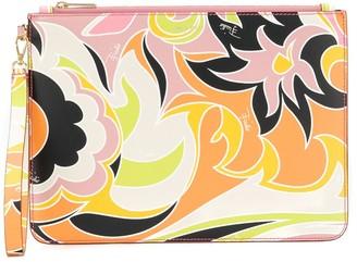 Emilio Pucci Dinamica print clutch