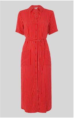 Whistles Montana Stripe Shirt Dress
