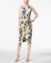 Rachel Roy Palm Toss Surplice Wrap Dress