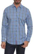Robert Graham Men's Big & Tall Classic Fit Embroidered Plaid Sport Shirt
