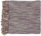 """Surya Teegan TEE-1003 Knit Hand Woven 100% Acrylic Purple 55"""" x 78"""" Throw"""