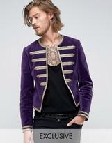 Reclaimed Vintage Velvet Admiral Jacket