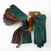 Women's Italian Leather Opera Gloves, Jewel-Toned