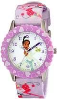 Disney Kids' W001925 Tiana Analog Display Analog Quartz Purple Watch