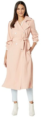 WAYF Noveau Belted Trench (Blush) Women's Clothing