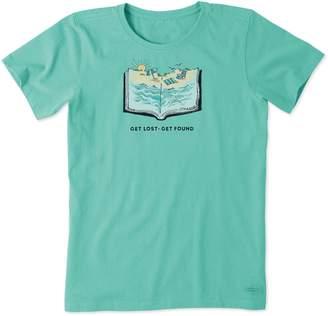 Life is Good Women's Beach Book Crusher Tee
