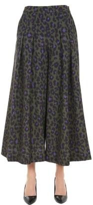 Boutique Moschino Animal Print Wide Leg Pants