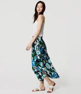 LOFT Jungle Floral Maxi Skirt