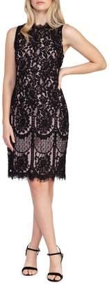 Dex Sleeveless Lace Trim Dress