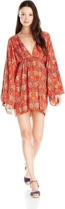 Motel Rocks Women's Martina Printed Bell Sleeve Dress