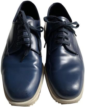 Prada Rois Blue Leather Lace ups