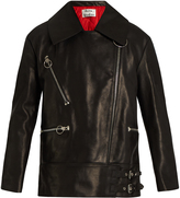 Acne Studios Morely oversized leather jacket